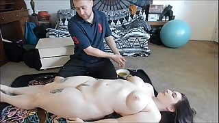 Busty Teenager With Big Ass Gets Sexy Oil Rubdown