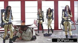 Ghostbusters Orgy - Ana Foxxx, Monique Alexander, Nikki Benz, Romi Rain