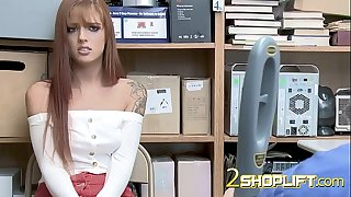 Poor Scarlett to the office of mall cop