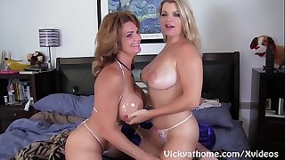 Busty Mummies Vicky Vette and Deauxma Get Off!
