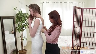 MOMMY'S GIRL - Stepmom helps with the wedding dress - Syren De Mer and Elena Koshka
