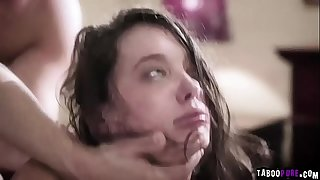 Teenager Gia Paige is close to crying while she gets cruelly dual penetrated!