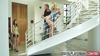(Alexis Texas) sucks hard-on and gets pounded on the stair case - Digital Playground