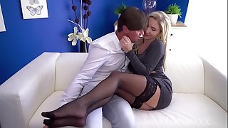 MOM Hot Scottish blonde Georgie Lyall messy deep throat and doggy