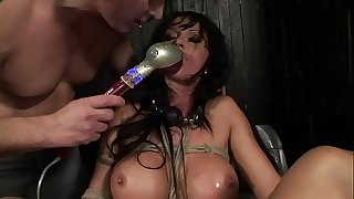 Under total domination. Abjected bitch mouth fucked and pounded painfully in her all holes.BDSM movie.Hardcore bondage sex.