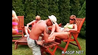 Girl-spit sex soiree act as naughty bitches take it unfathomable