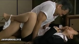 Parent in law force fucking Japanese daughter in law