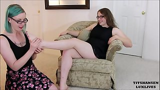 Miss Jane Judge entices boot sales clerk lesbo foot worship luxlives